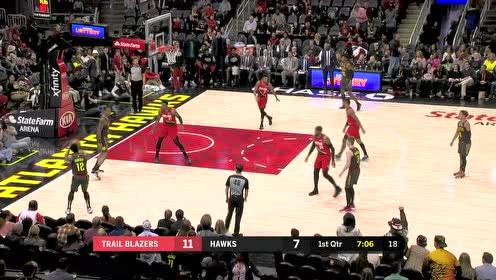 2020年03月01日NBA常规赛 开拓者VS老鹰 全场录像回放视频