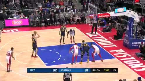 2020年03月08日NBA常规赛 爵士VS活塞 全场录像回放视频